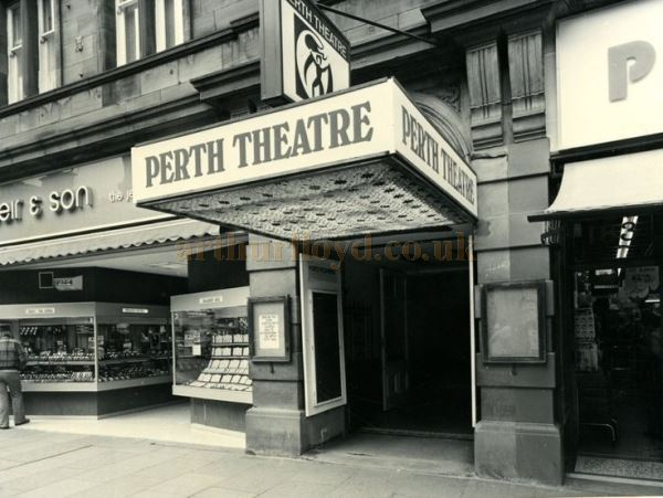 The High Street Entrance and Canopy of the Perth Theatre in the 1970s - Courtesy Graeme Smith.