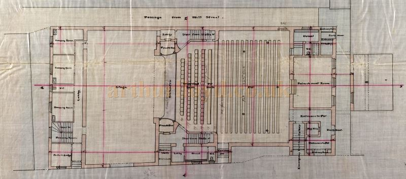 An original Pit plan of the Perth Theatre, drawn by William Alexander in 1898 - Courtesy the Perth Theatre Project team and Perth & Kinross Council Libraries.