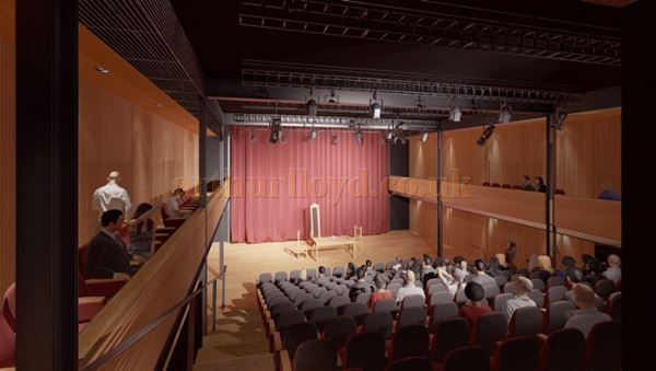 A Perspective showing the proposed new Studio Theatre in the Perth Theatre when it opens in 2017 - Courtesy Richard Murphy architects.
