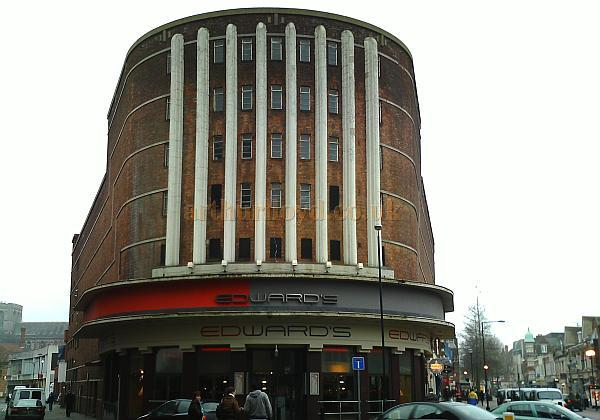 The Embassy Theatre in 2009, now a branch of Edwards, and also housing branches of O'Neils, Flairs & the Reflex night club - Courtesy Tony Dent.