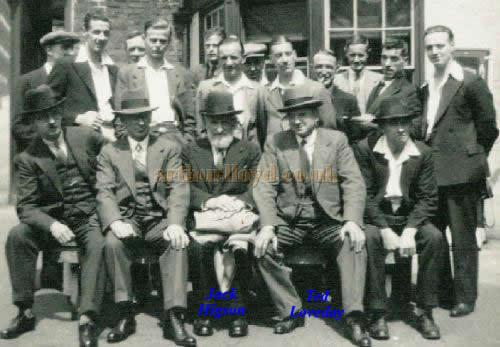 A photograph taken on a Works Outing for the staff of the scenery firm 'Loveday & Higson.' Jack Higson is centre with the beard and Ted Loveday is to his left. - Courtesy Ted Loveday, Managing Director of Brunskill & Loveday LTD, the son of Ted Loveday in the picture.
