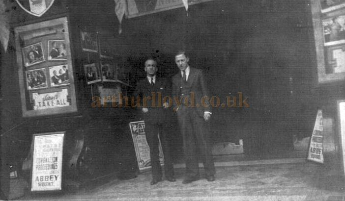 The Theatre Managers at entrance to the Islington Empire in the 1930s - Courtesy Alan Towill