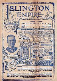 Programme for 'Hip Hip Hooray!' at the Islington Empire in 1917