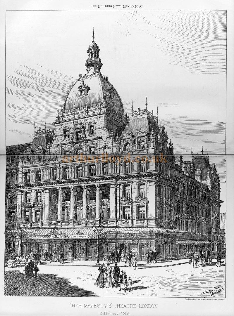 C. J. Phipps' Her Majesty's Theatre - From the Building News and Engineering Journal, May 14th 1897