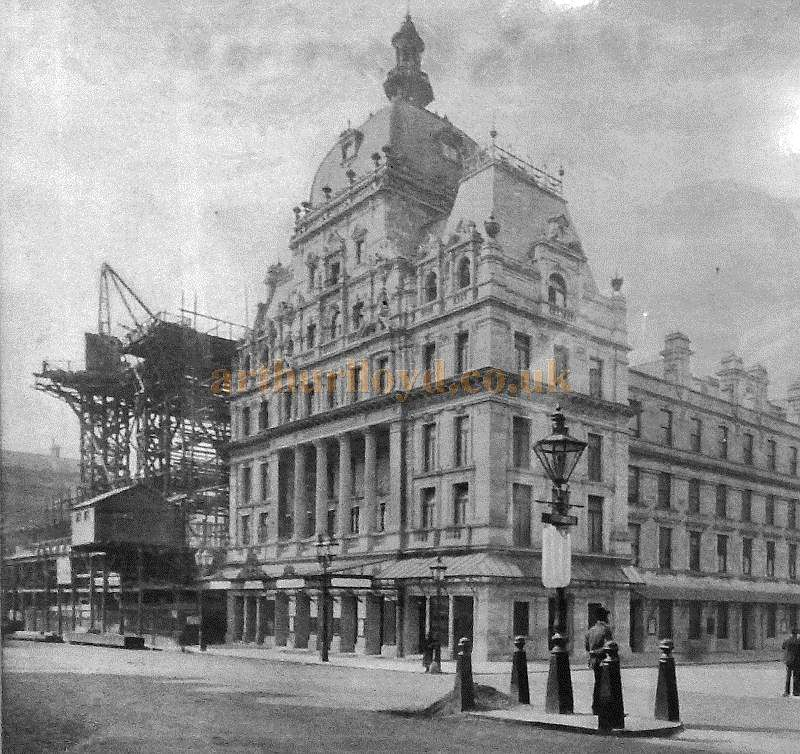 C. J. Phipps' Carlton Hotel under construction.