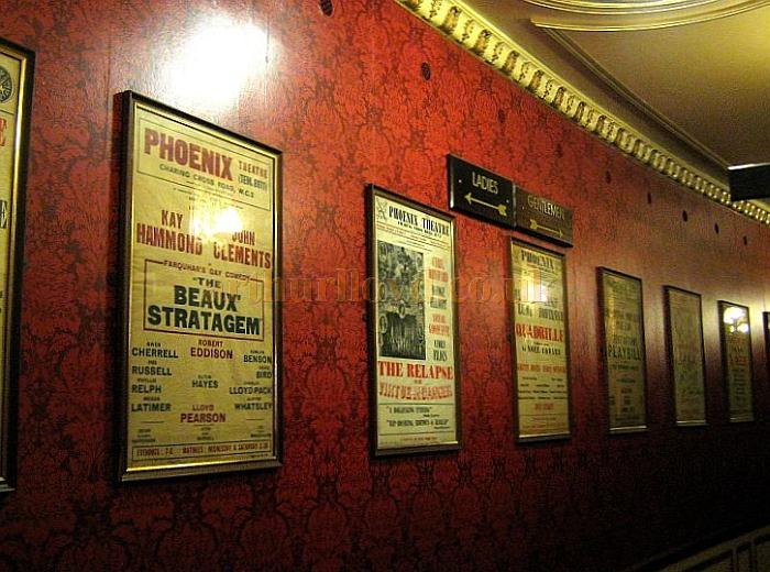 One of the Phoenix Theatre's Corridors displaying past shows at the Theatre in a photograph taken in November 2010 - Courtesy Charles S. P. Jenkins