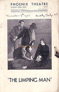 Programme for 'The Limping Man' at the Phoenix Theatre in 1935.