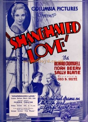 Shanghaied Love at the Phoenix Theatre in 1931 - From the Bioscope Cinema Magazine of 1931.