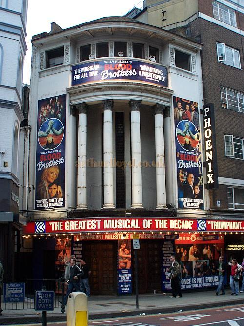 The Main Entrance for the Phoenix Theatre during the run of 'Blood Brothers' in October 2006. - Photo M.L.