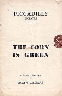 Programme for 'The Corn Is Green' at the Piccadilly Theatre in 1938.