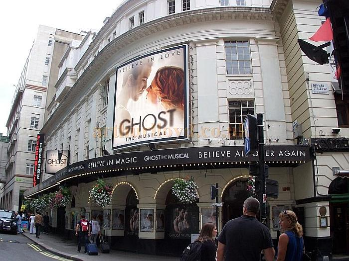 The Piccadilly Theatre during the run of 'Ghost The Musical' in August 2011 - Photo M.L.