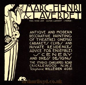 Marc-Henri & Laverdet Advertisement.