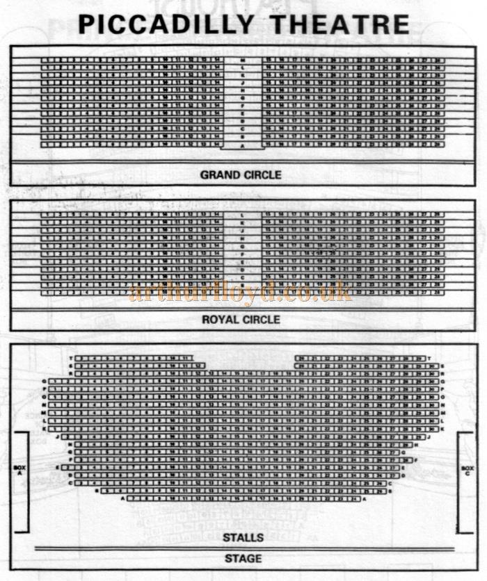 A 1970s Seating Plan for the Piccadilly Theatre