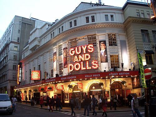 The Piccadilly Theatre during the run of 'Guys And Dolls' in October 2006.  - Photo M.L.