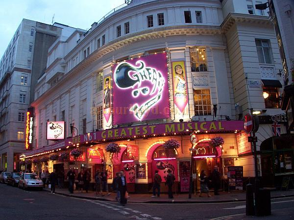 The Piccadilly Theatre during the run of 'Grease' in September 2008 - Photo M.L.