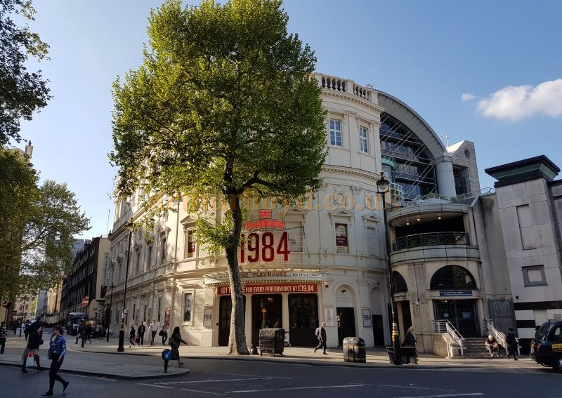 The Playhouse Theatre during the run of '1984' in May 2016 - Photo M.L.