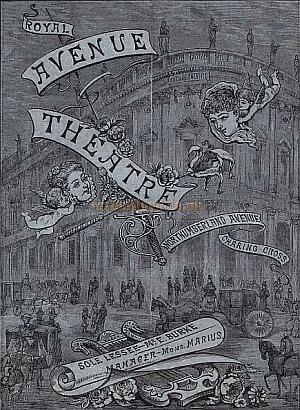 Programme for 'Madame Favart' at the Royal Avenue Theatre - circa 1880s - which was also the first production at the newly opened Theatre. Click for details.