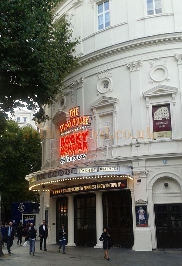 The Playhouse Theatre during the run of the 'Rocky Horror Show' in September 2015 - Photo M.L.
