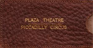 Wallet containing the opening night brass ticket shown below - Kindly donated by Kenneth Parton.