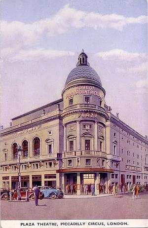 The Plaza Theatre, from an original period postcard