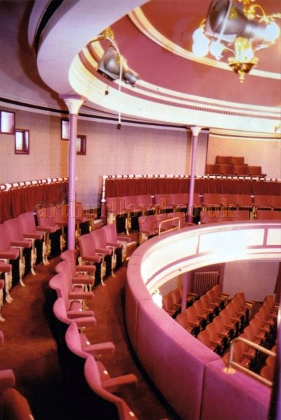 The Auditorium of the Globe Theatre, Plymouth in the 1980s - Courtesy Ted Bottle.