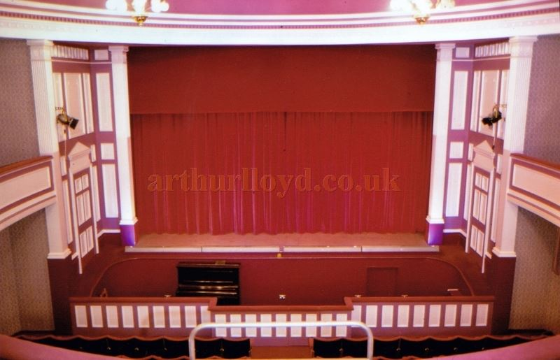 The Auditorium and Stage of the Globe Theatre, Plymouth in the 1980s - Courtesy Ted Bottle.