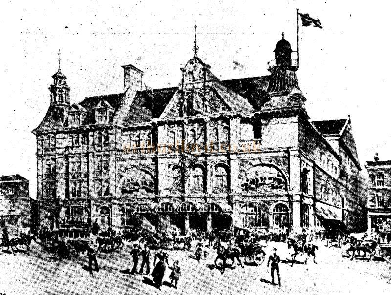 A sketch of the New Palace Theatre, Plymouth - From the ERA, 10th of September 1898