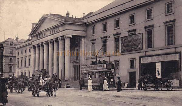A postcard depicting the Theatre Royal, Plymouth.