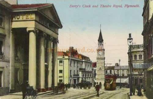 A postcard depicting the Theatre Royal, Plymouth in 1910.