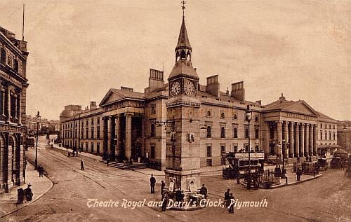 Plymouth Theatre Royal from a postcard, undated.