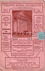 Programme for Theatre Royal Plymouth - 1932 - Click for details