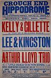 A Poster for the Arthur Lloyd Trio performing Arthur Lloyd's 'Little Charlie or the twin Sisters' at the Crouch End Hippodrome on December the 16th 1907 - Click to Enlarge.