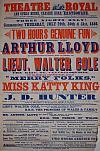 Poster for Horatio and Arthur Lloyd at the Theatre Royal, Eastbourne in 1886, just three years after the Theatre opened, in Arthur Lloyd's 'Two Hours Genuine Fun.'
