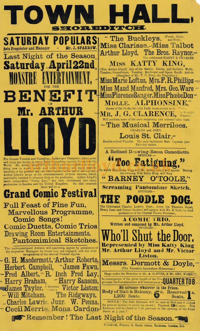 Shoreditch Town Hall: The Lloyd / King Posters Collection