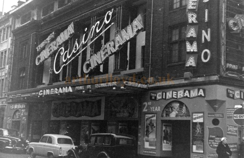 The Casino Cinerama Theatre during its second year as a Cinema in 1955 - Courtesy Allan Hailstone