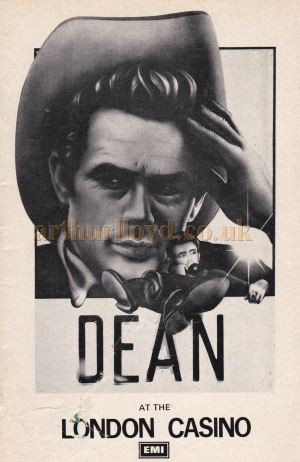 A Programme for 'Dean' at the London Casino in 1976.