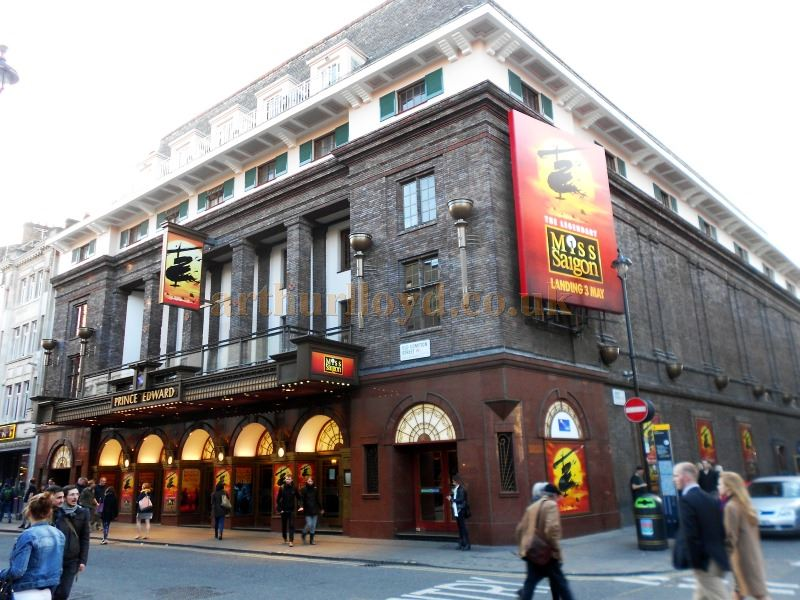 The Prince Edward Theatre during production for Cameron Mackintosh's revival of 'Miss Saigon in April 2014 - Photo M.L.