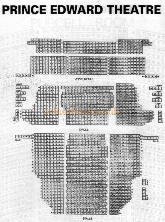 A 1970s Seating Plan for the Prince Edward Theatre