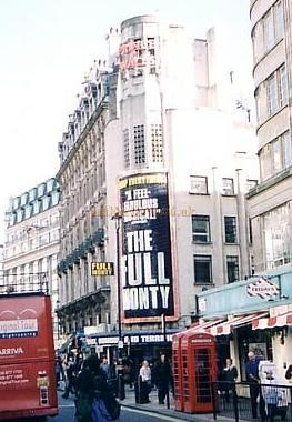The 1937 Prince of Wales Theatre, Coventry Street, in its original form, whilst the production of 'The Full Monty' was playing at the Theatre in 2002- Photo M.L.