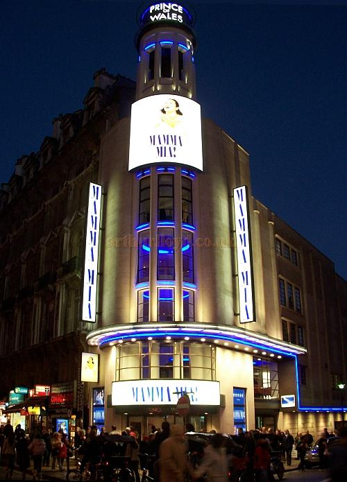 The Prince Of Wales Theatre during the phenomenally successful run of 'Mamma Mia.' - Photo M.L. 2005
