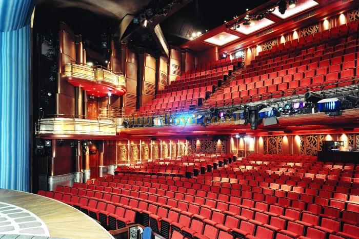 The 2005 refurbished auditorium of the Prince of Wales Theatre in a photograph by Alberto Arzoz  - With kind permission (c) Delfont Mackintosh Theatres