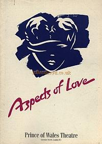 A programme for 'Aspects of Love' at the Prince of Wales Theatre - Courtesy Greg Radcliffe.