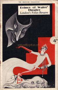 A Programme for 'Folies Bergere - Paris Fantaisie' at the Prince of Wales Theatre in 1933 - Click for details.