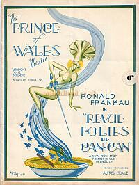 A Programme for 'Revue Folies de Can-Can' at the new Prince of Wales Theatre in 1938 - Click to see the entire programme.
