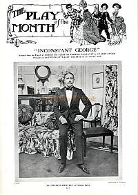 The Playgoer of 1910 on the play 'Inconstant George' which was produced at the Prince of Wales Theatre in 1910 - Click for details.