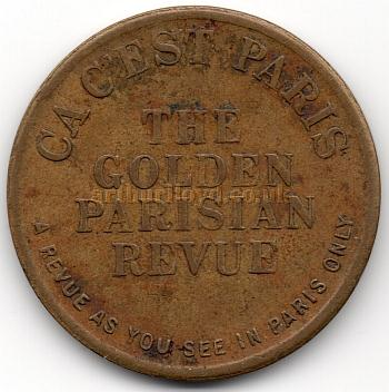 A Theatre Token for 'Ca C'est Paris' at the Prince of Wales Theatre in 1933 - Courtesy Alan Judd