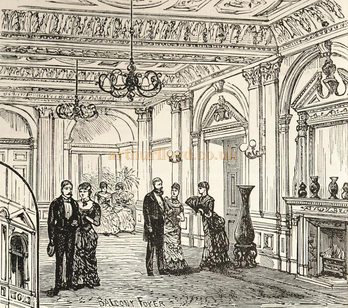 A Sketch of the Balcony Foyer of the Prince's Theatre - Courtesy Delfont Mackintosh Theatres.