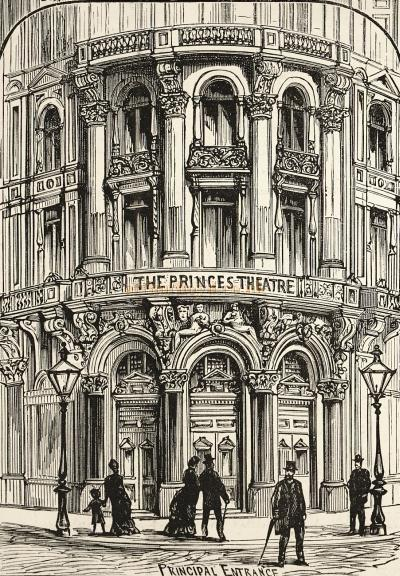 A sketch of the principle entrance of the Prince's Theatre - Courtesy Delfont Mackintosh Theatres.