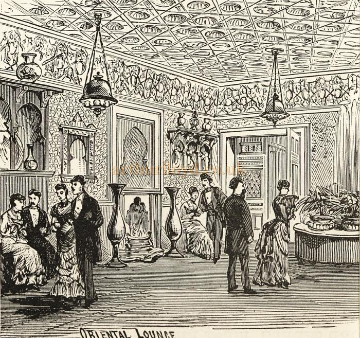 A sketch of the Oriental Lounge at the Prince's Theatre - Courtesy Delfont Mackintosh Theatres.