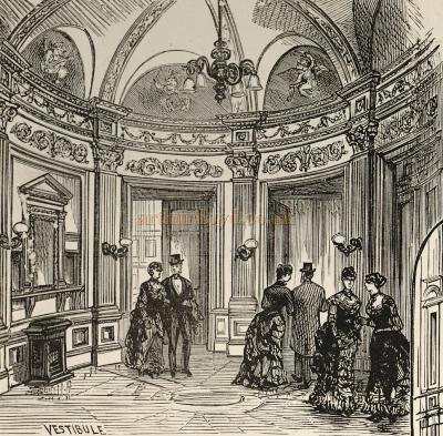 - A sketch of the vestibule of the Prince's Theatre - Courtesy Delfont Mackintosh Theatres.